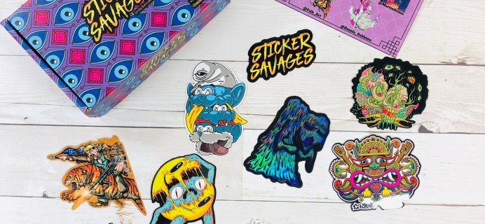 Sticker Savages May 2020 Subscription Box Review + Coupon