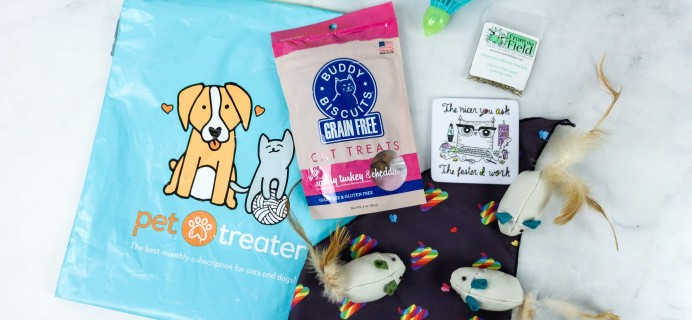 Pet Treater Cat Pack April 2020 Cat Subscription Review + Coupon!