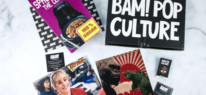 The BAM! POP CULTURE BOX March 2020 Subscription Box Review