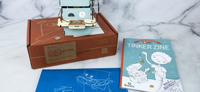 KiwiCo Tinker Crate Review & Coupon – COIN-EATING ROBOT