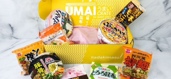 Umai Crate April 2020 Subscription Box Review + Coupon
