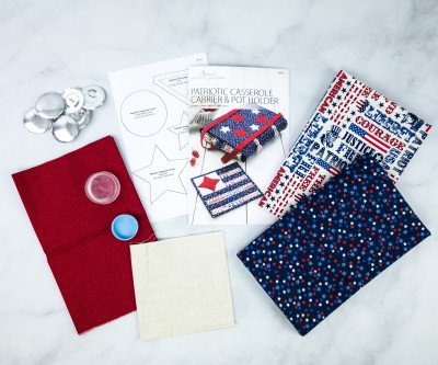 Annie's Holiday Quilters Club Unboxing Review + Coupon – PATRIOTIC CASSEROLE CARRIER & POT HOLDER