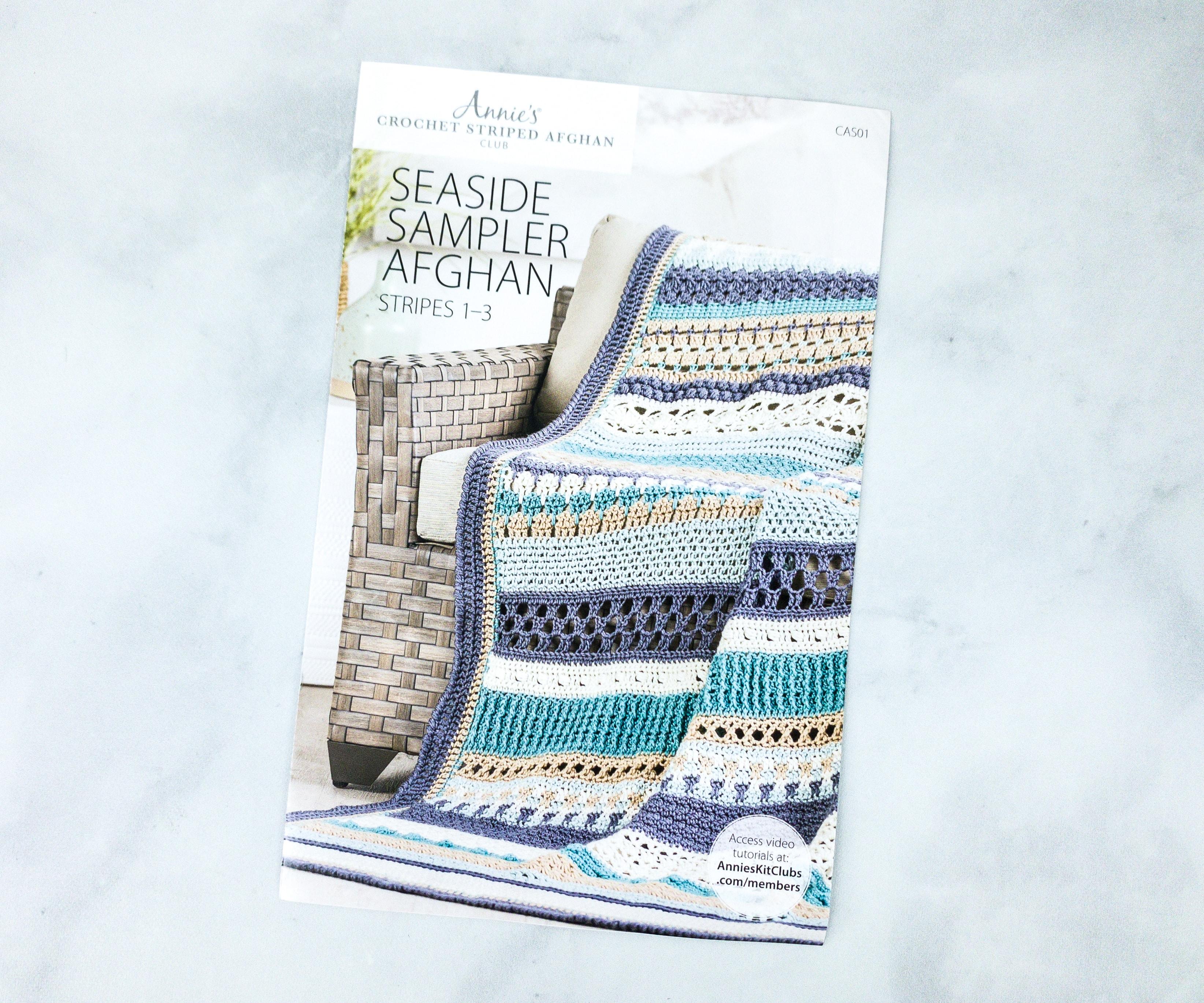 Annie/'s Crochet Afghan Block of Month Seaside Sampler Afghan CAS07 BLOCKS 19-21