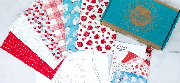 Annie's Creative Quilters Fat Quarter Club Unboxing Review + Coupon – FARM FRESH COLLECTION