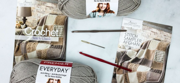 Annie's Crochet Afghan Block-of-the-Month Club Unboxing Review + Coupon – STITCH SAMPLER AFGHAN