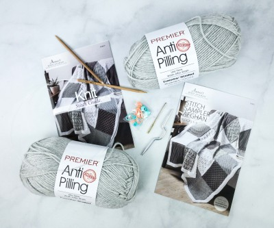 Annie's Knit Afghan Block-of-the-Month Club Unboxing Review + Coupon – STITCH SAMPLER AFGHAN