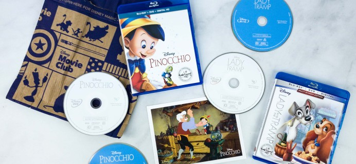 Disney Movie Club Review + Coupon – LADY & THE TRAMP + PINOCCHIO
