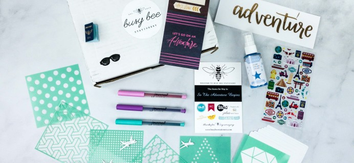 Busy Bee Stationery May 2020 Subscription Box Review