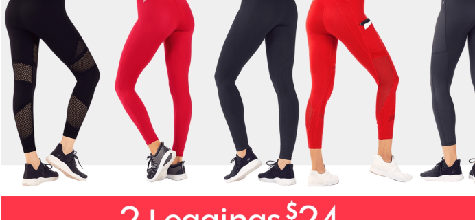 Fabletics Coupon: 2 Pairs of Leggings for $24!