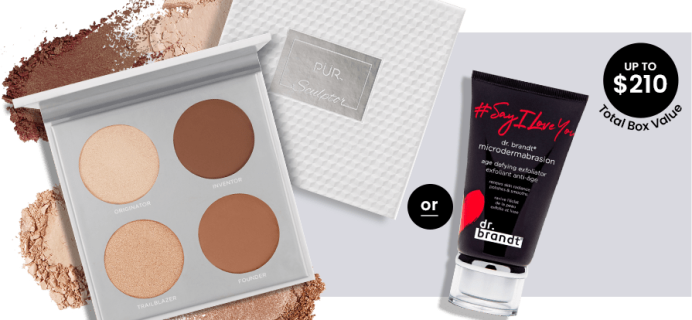 BOXYCHARM Coupon: FREE PUR Sculptor PaletteOR Dr. Brandt Exfoliator with May 2020 Box!