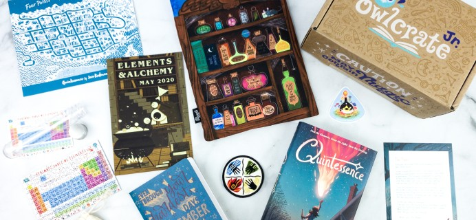 OwlCrate Jr. May 2020 Box Review & Coupon – ELEMENTS & ALCHEMY