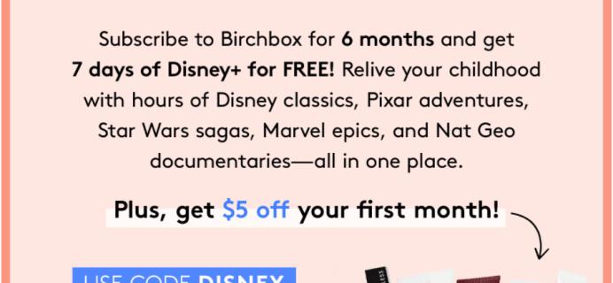 Birchbox Coupon: Get $5 Off + FREE Disney+ Trial!