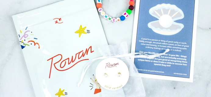 Rowan Earring Club May 2020 Subscription Box Review