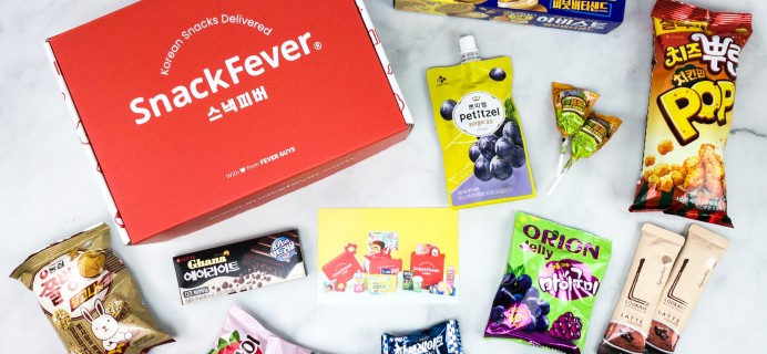 Snack Fever June 2020 Subscription Box Review + Coupon – Original Box!