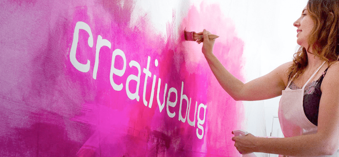 Creativebug Coupon:  Get 7 Days FREE Trial!
