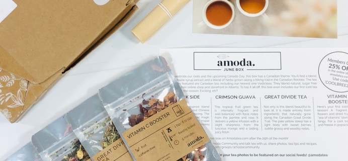 Amoda Tea June 2020 Subscription Box Review + Coupon!