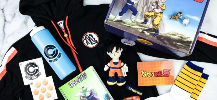 Dragon Ball Z Spring 2020 Subscription Box Review