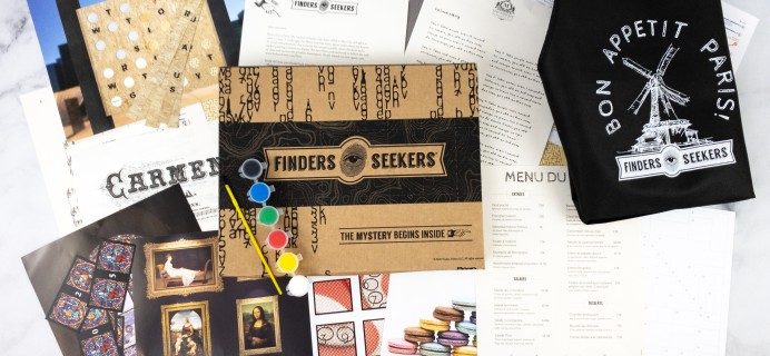 Finders Seekers Subscription Box Review + Coupon – PARIS