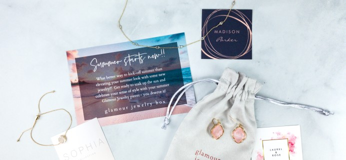 Glamour Jewelry Box June 2020 Subscription Box Review + Coupon