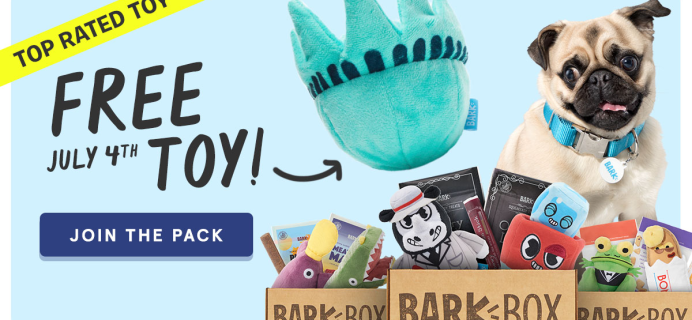 BarkBox Coupon: FREE Fourth of July Toy!