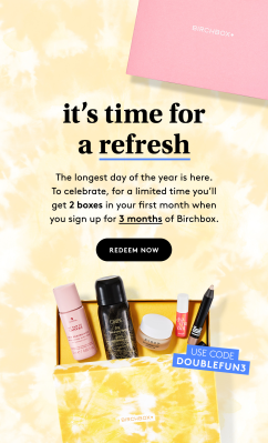 Birchbox Coupon: FREE Beauty Box with 3 Month Subscription!