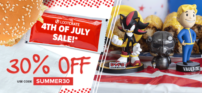 Loot Crate Fourth of July Sale : Get 30% Off On Select Crates!