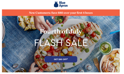 Blue Apron Fourth of July Sale: Get Up To $80 Off!