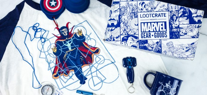 Marvel Gear + Goods March 2020 Subscription Box Review + Coupon! – BLUE