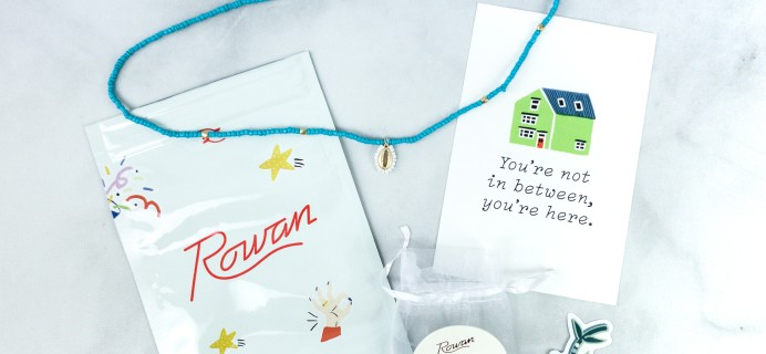 Rowan Earring Club June 2020 Subscription Box Review