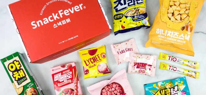 Snack Fever July 2020 Subscription Box Review + Coupon – Original Box!