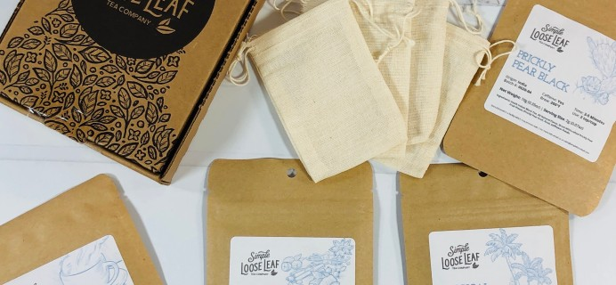 Simple Loose Leaf Tea July 2020 Subscription Box Review + Coupon!