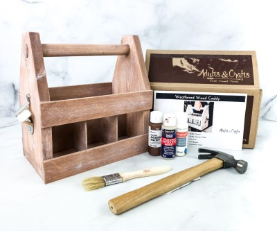 Adults & Crafts Subscription Box Review + Coupon – WEATHERED WOOD CADDY