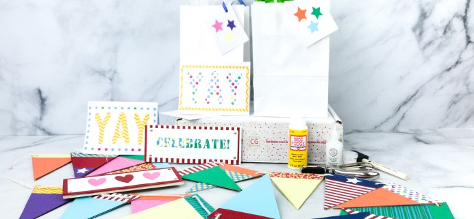 Confetti Grace May 2020 Subscription Box Review – PENNANT BANNER