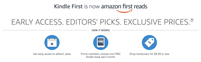 Amazon First ReadsSeptember 2020 Selections: 1 Book FREE for Amazon Prime Members