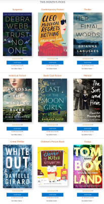 Amazon First ReadsJuly 2020 Selections: 1 Book FREE for Amazon Prime Members