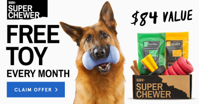 BarkBox Super Chewer Coupon: Get FREE Extra Toy Every Month!