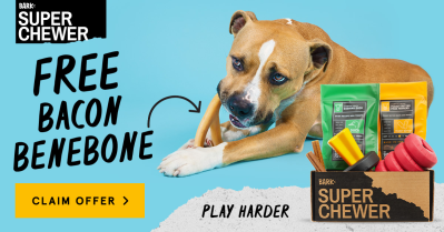 BarkBox Super Chewer Coupon: Get FREE Bacon Benebone Toy With Subscription!