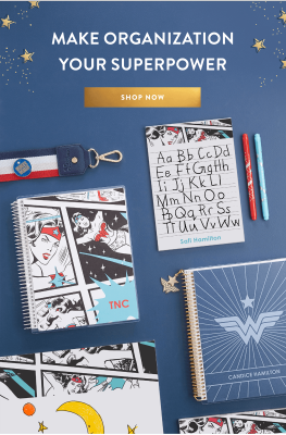 Erin Condren x Wonder Woman Kids Collection Available Now + Coupon!