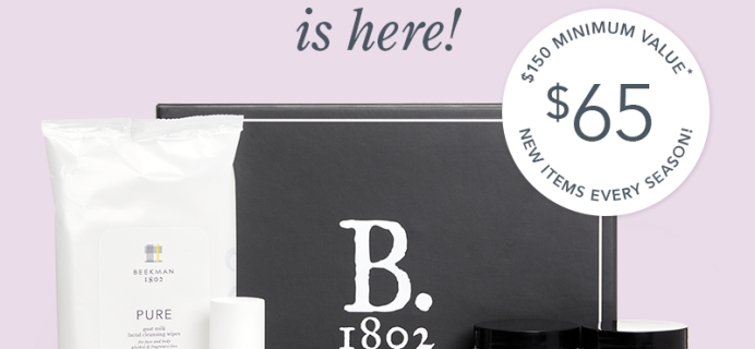 B. 1802 Beekman Beauty Box Summer 2020 Available Now + Full Spoilers!