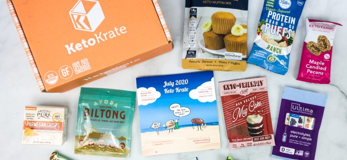 KetoKrate July 2020 Subscription Box Review + Coupon