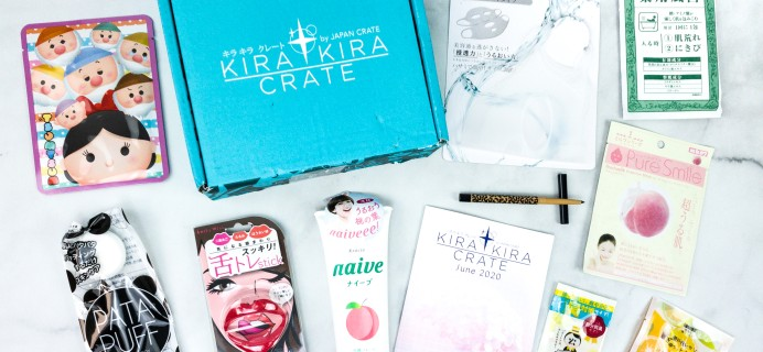 Kira Kira Crate June 2020 Subscription Box Review + Coupon