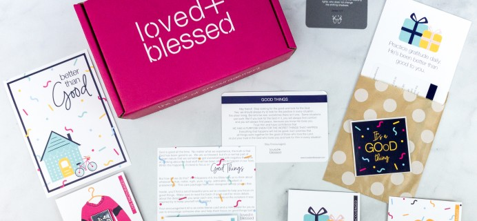 Loved+Blessed July 2020 Subscription Box Review + Coupon