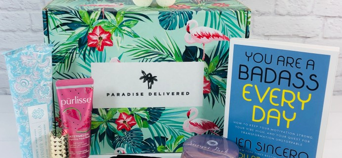 Paradise Delivered July 2020 Subscription Box Review + Coupon
