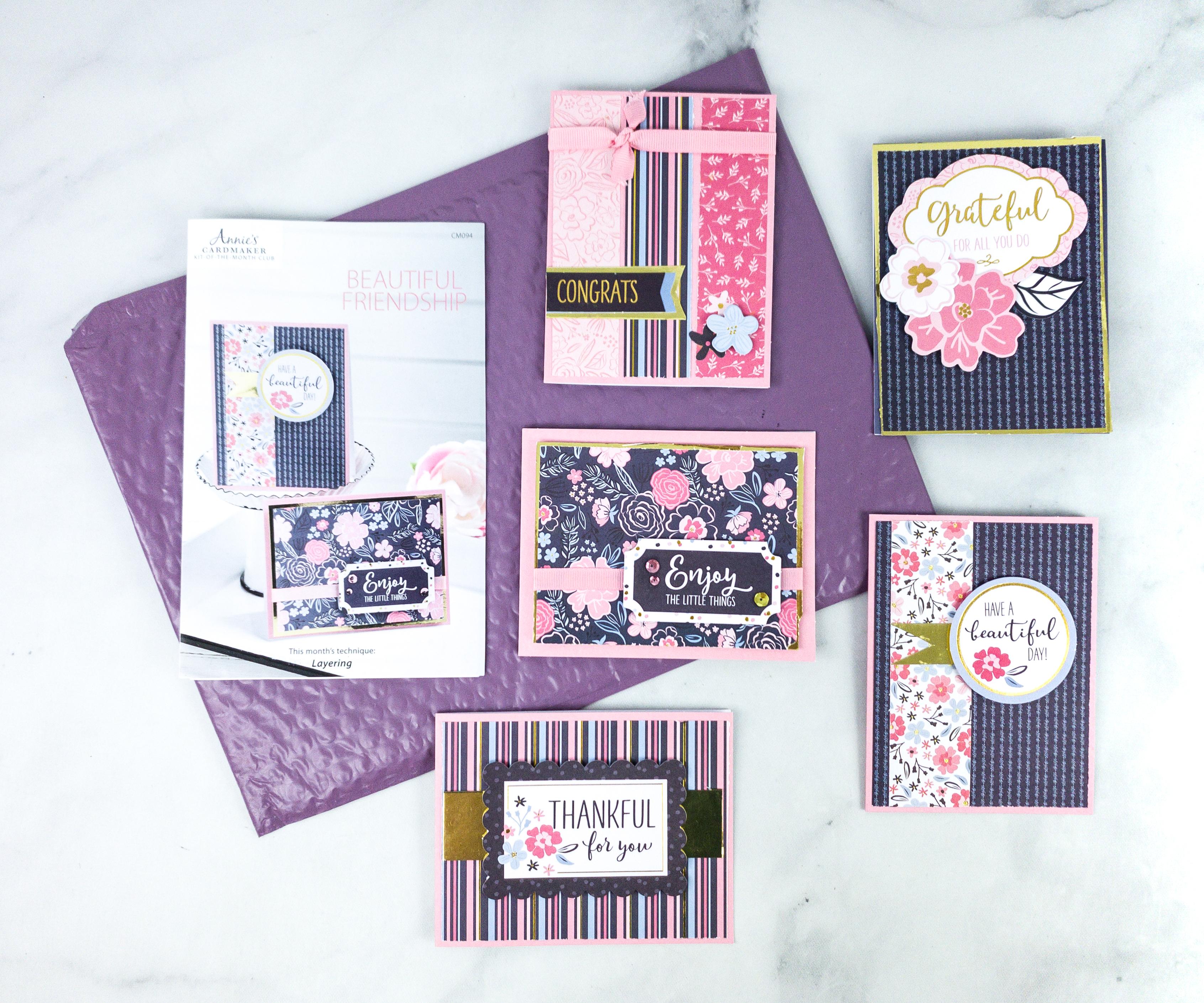 Three month card kit subscription