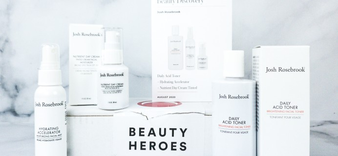 Beauty Heroes August 2020 Subscription Box Review