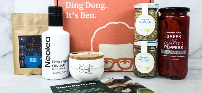 """Ben to Table Subscription Box Review + Coupon – Greece """"Taste The World"""" Box"""
