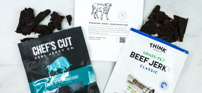Craft Jerky Co August 2020 Subscription Box Review + Coupon