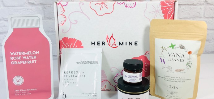HER-MINE Box August 2020 Subscription Box Review + Coupon
