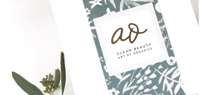 The Clean Beauty Box by Art of Organics November 2017 Full Spoilers + Coupon!