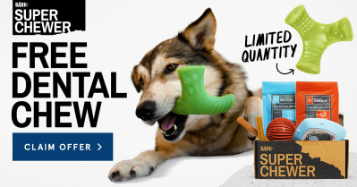 BarkBox Super Chewer Coupon: Get FREE Dental Chew Toy With Subscription!